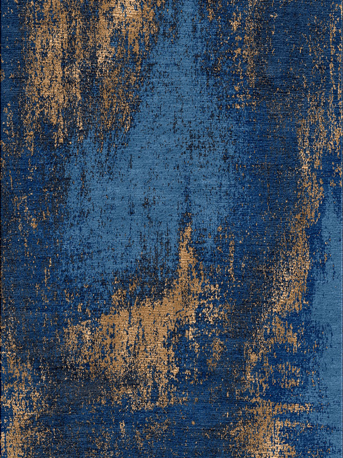Washed Denim Copper Rug Bazaar Velvet London Rugs