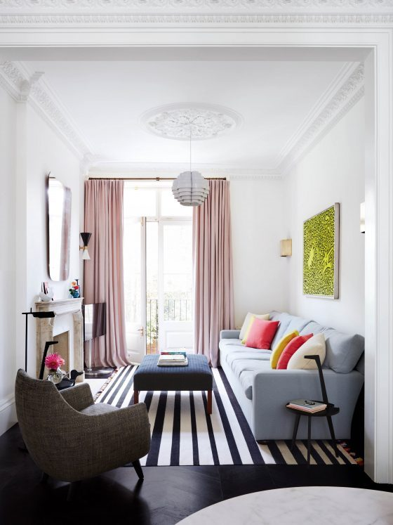 make a small room look larger with paint colour