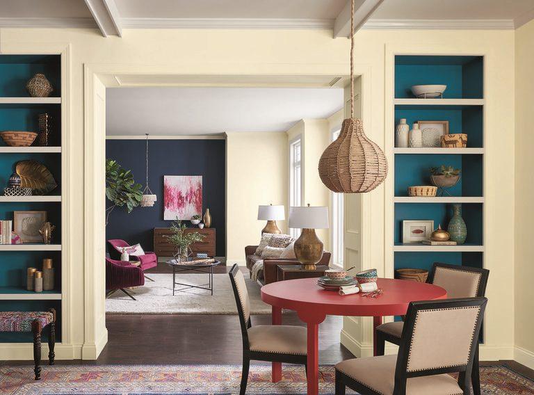 interior design 2018 yellow dining room
