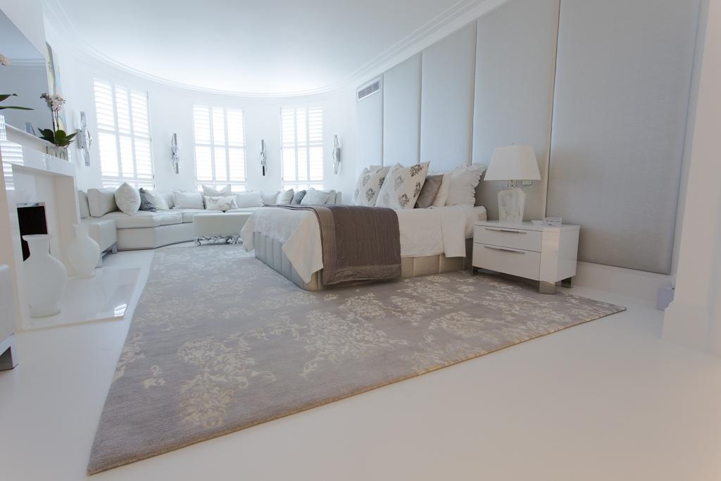 grey bedroom rug bespoke