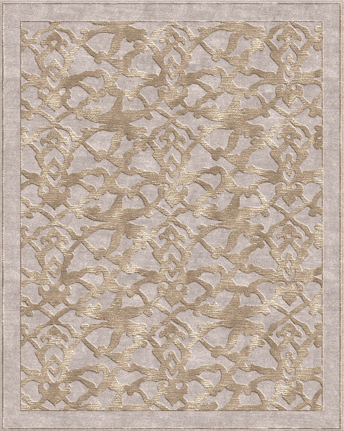 Arabesque Silver Taupe Rug Bazaar Velvet London Rugs