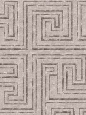 geometric contemporary rug with wool and silk