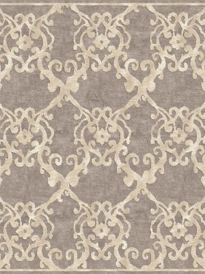 contemporary rug with large scale classic design