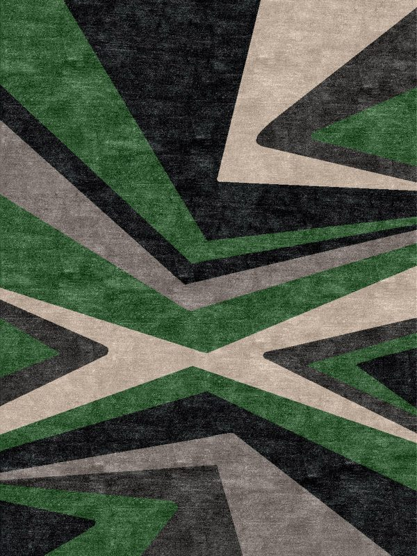 bold green modern rug
