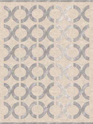 geometric rug design with circles