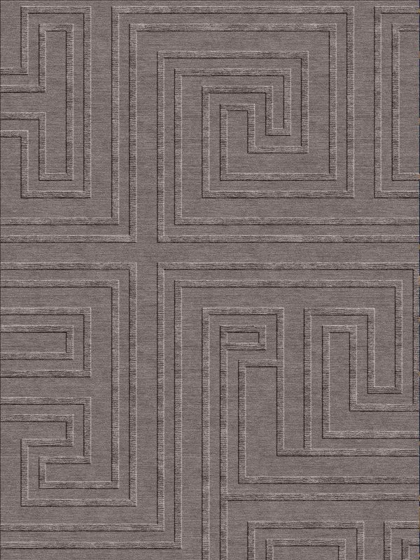 hand knotted geometric rug wool and silk