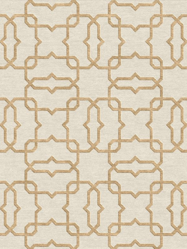 geometric trellis design contemporary rug