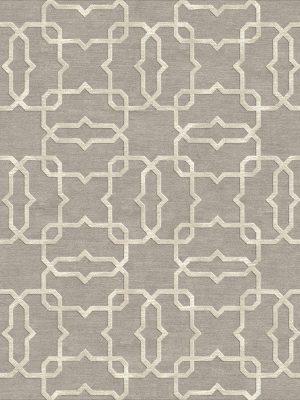geometric trellis design with cream silk