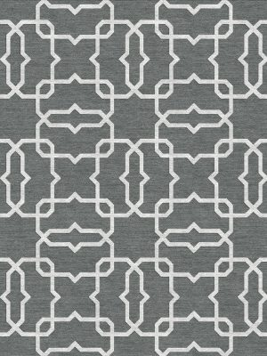 geometric trellis design contemporary grey rug