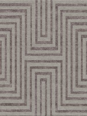 geometric contemporary rug with striped design