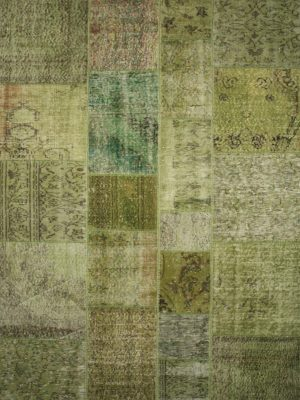 lime green vintage patchwork rug