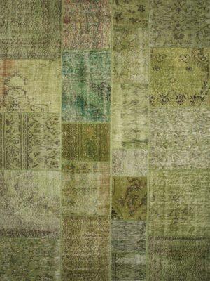 lime green vintage patchwork rug