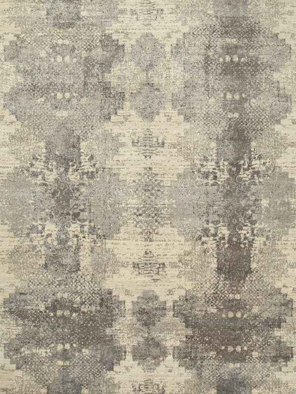 contemporary designer rug with grey pattern