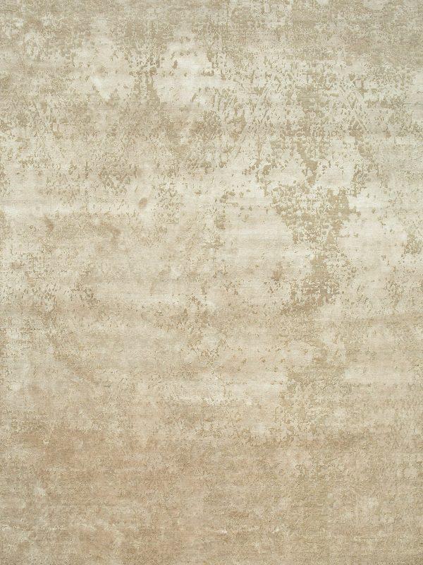 cream hand knotted designer rug