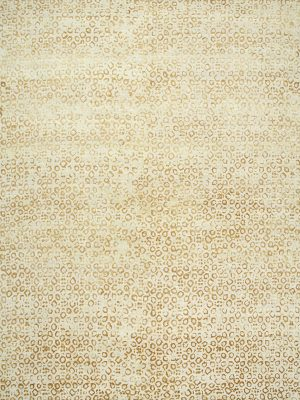 gold patterned designer rug with silk