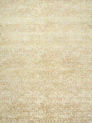 gold patterned designer rug with silk