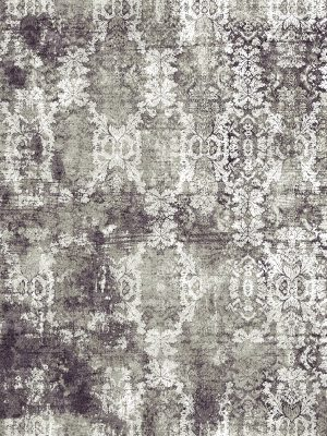 damask pattern luxury rug grey silver