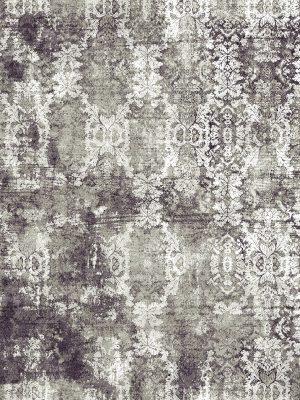 damask pattern luxury rug grey silver