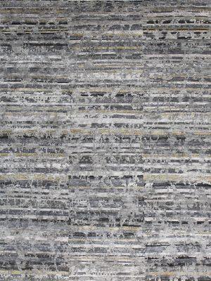 silver designer rug in bamboo silk