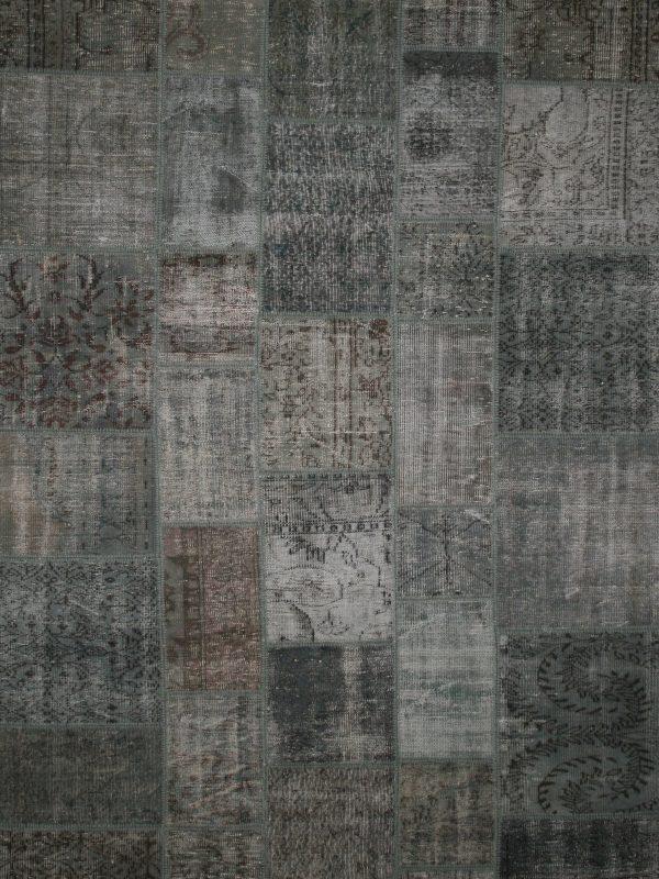 grey vintage patchwork rug
