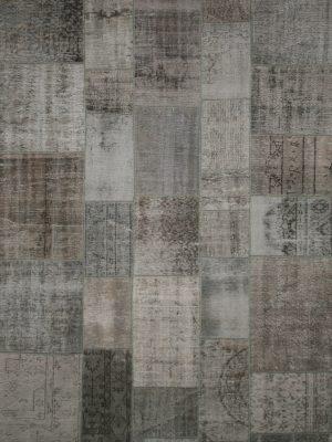 vintage patchwork grey rug