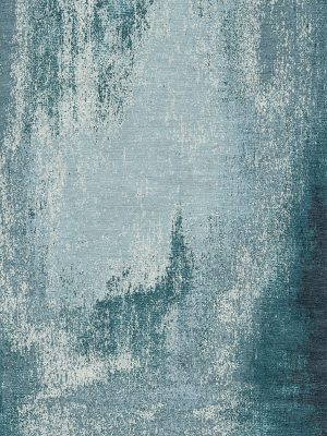 teal contemporary hand knotted rug