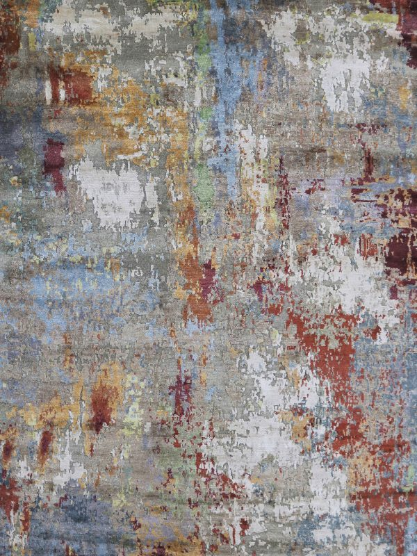 multi coloured abstract rug