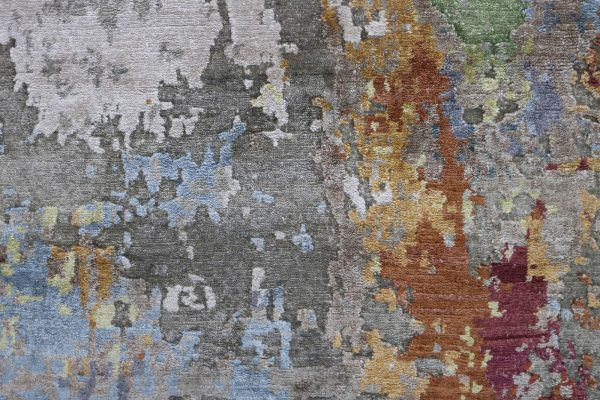 abstract rug with many colours
