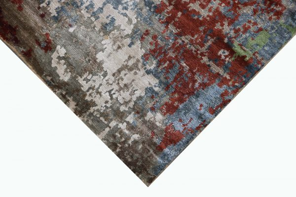 multi coloured abstract pattern rug