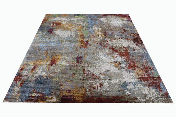 multi coloured silk rug
