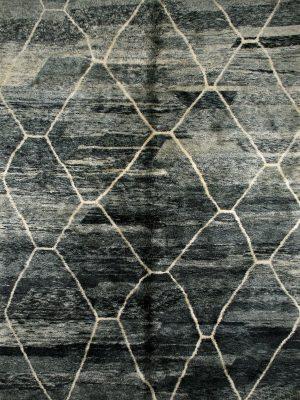large Moroccan Berber rug grey