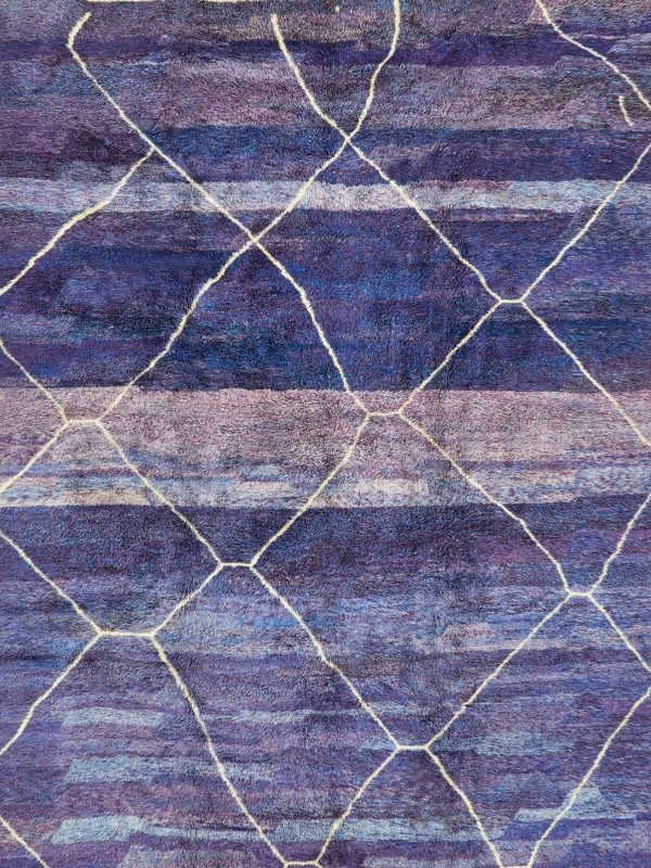 large purple berber rug created in morocco