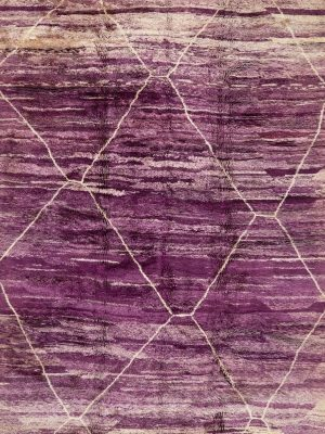 large purple moroccan berber rug with tribal style
