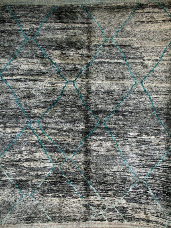tribal style grey moroccan berber rug