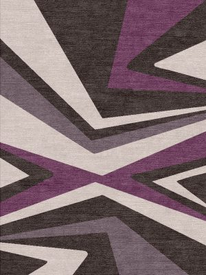 purple patterned modern rug