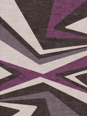 purple patterned modern rug