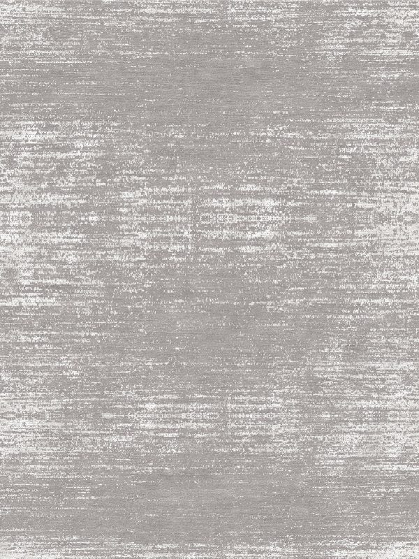 modern silver contemporary rug with wool and silk