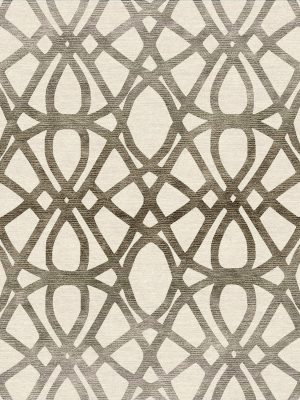 geometric contemporary rug with gold silk