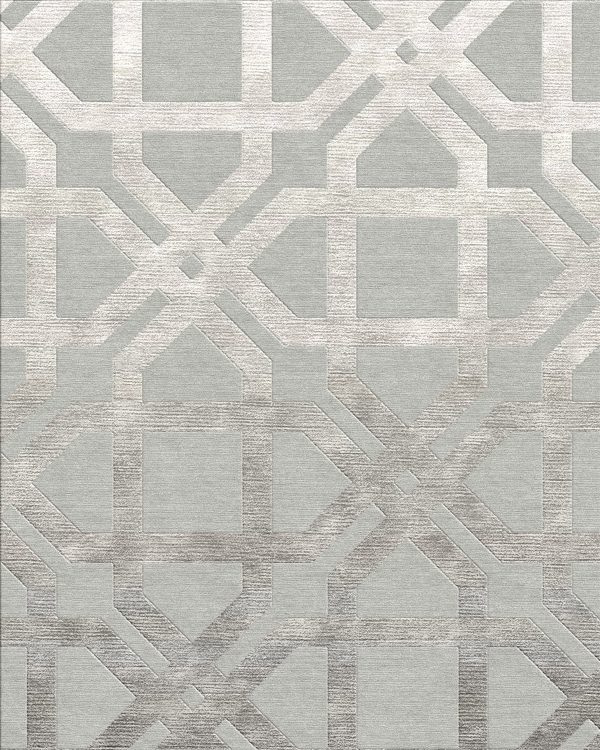large scale geometric design rug