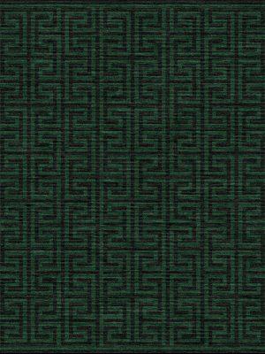 dark green contemporary rug with greek key geometric design