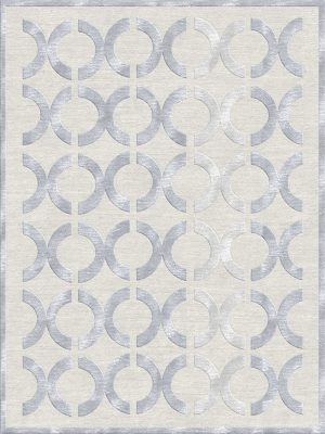 luxury geometric rug wool and silk