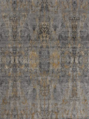 grey and gold luxury designer rug