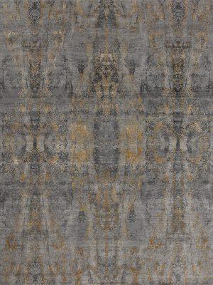 grey and gold luxury designer rug