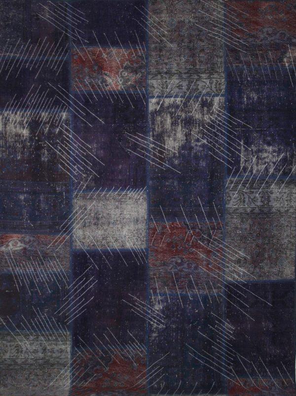 purple vintage patchwork rug