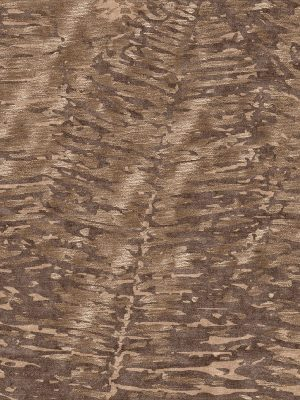 brown silk and wool contemporary rug