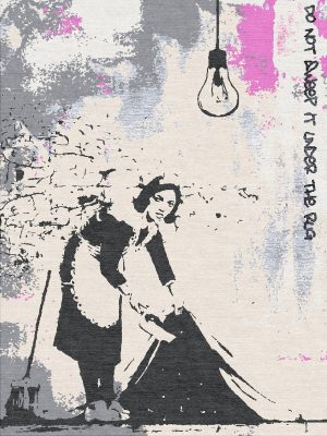 banksy inspired statement rug