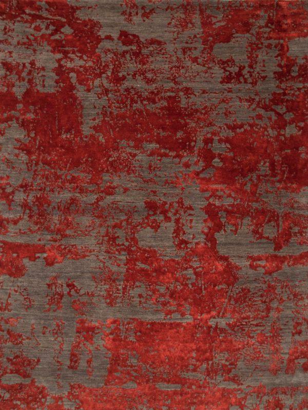red contemporary designer rug