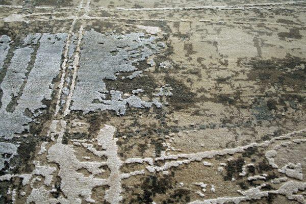 luxury abstract rug khaki