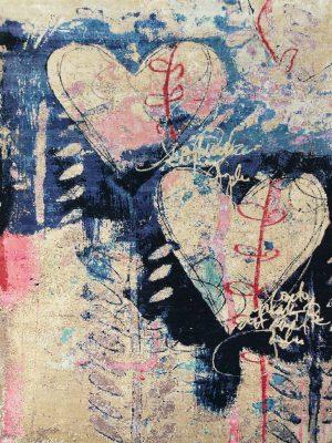luxury rug with love heart design