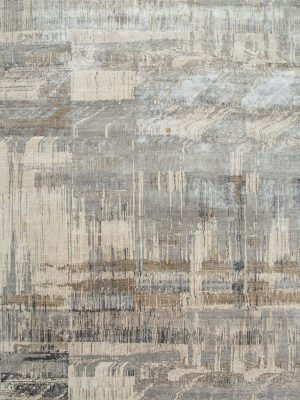 contemporary designer rug in grey and cream